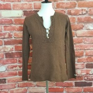 Columbia angora blend brown sweater M